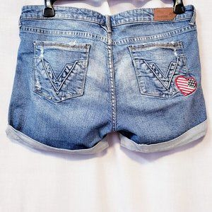 Vigoss Shorts - 💋Vigoss Stars & Stripes Heart Patch shorts size 9